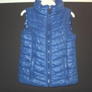 Ruum Girl's Sz XS (5/6) Puffer Vest Blue Full Zip